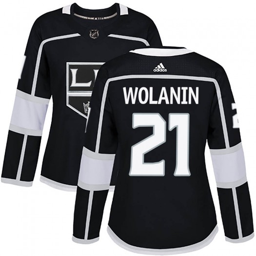 Christian Wolanin Los Angeles Kings Women's Adidas Authentic Black Home Jersey