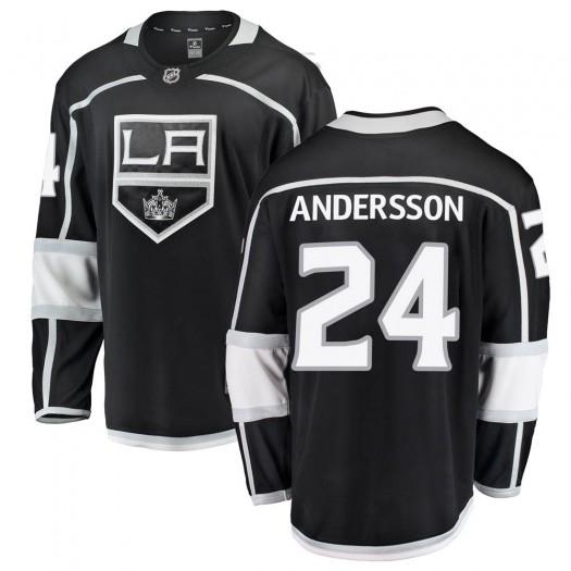 Lias Andersson Los Angeles Kings Youth Fanatics Branded Black Breakaway Home Jersey