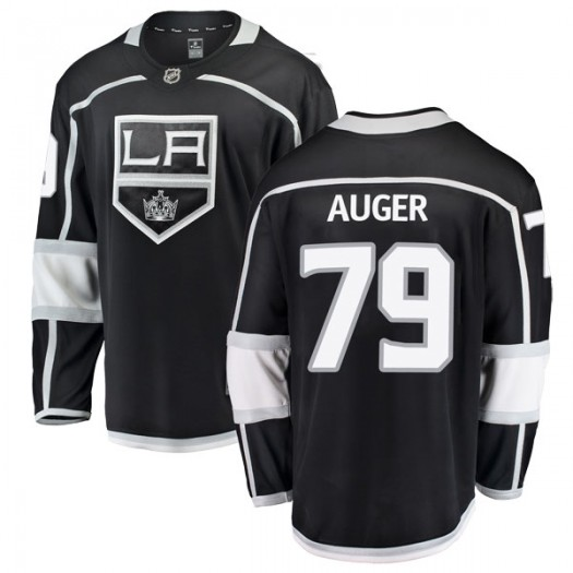 Justin Auger Los Angeles Kings Youth Fanatics Branded Black Breakaway Home Jersey
