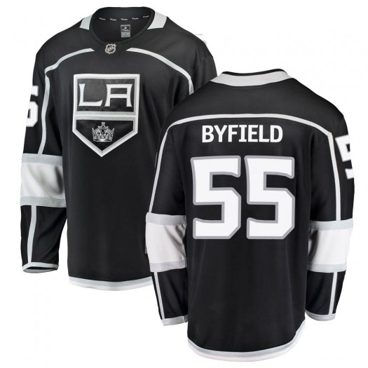Quinton Byfield Los Angeles Kings Youth Fanatics Branded Black Breakaway Home Jersey