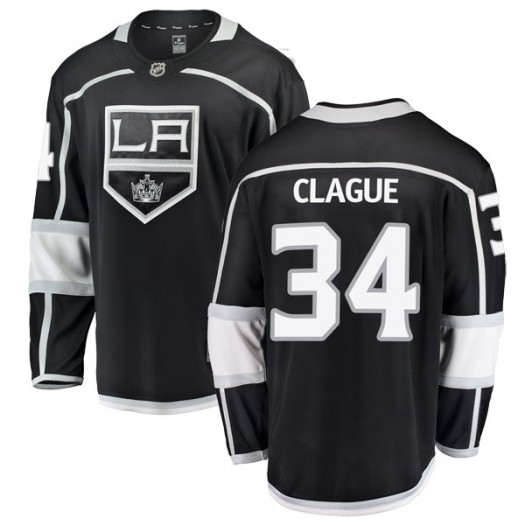 Kale Clague Los Angeles Kings Youth Fanatics Branded Black Breakaway Home Jersey
