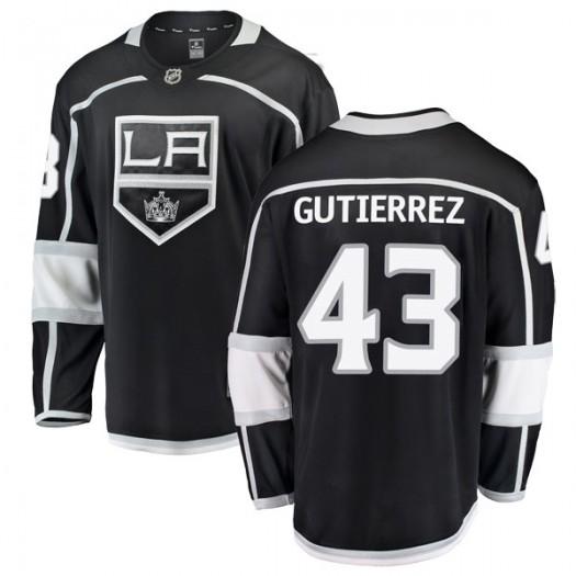 Justin Gutierrez Los Angeles Kings Youth Fanatics Branded Black Breakaway Home Jersey