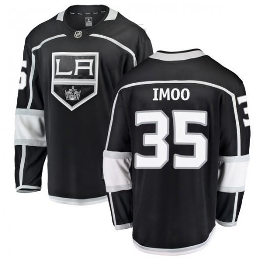 Jonah Imoo Los Angeles Kings Youth Fanatics Branded Black Breakaway Home Jersey