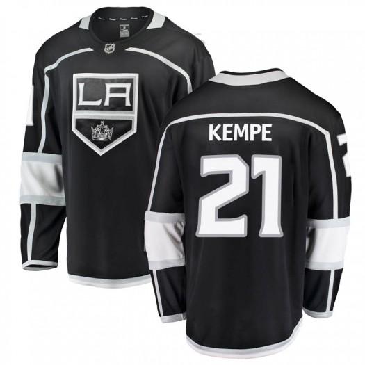 Mario Kempe Los Angeles Kings Youth Fanatics Branded Black Breakaway Home Jersey