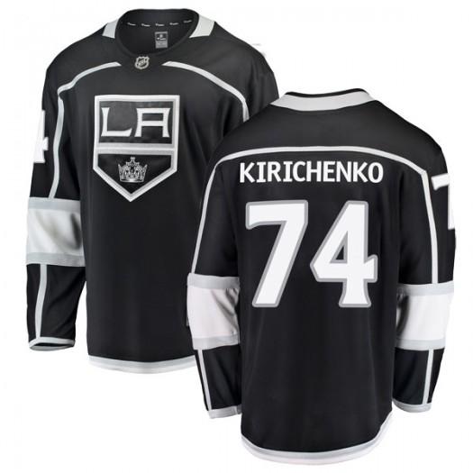 Clayton Kirichenko Los Angeles Kings Youth Fanatics Branded Black Breakaway Home Jersey