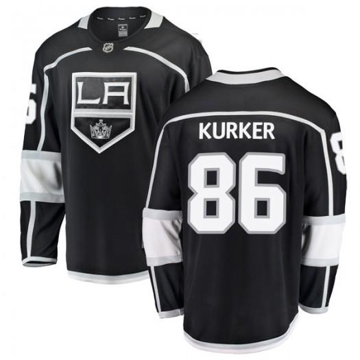 Sam Kurker Los Angeles Kings Youth Fanatics Branded Black Breakaway Home Jersey