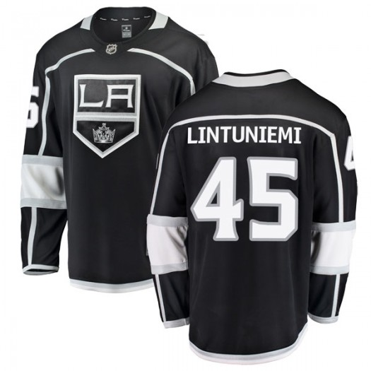 Alex Lintuniemi Los Angeles Kings Youth Fanatics Branded Black Breakaway Home Jersey
