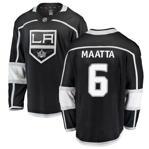 Olli Maatta Los Angeles Kings Youth Fanatics Branded Black Breakaway Home Jersey