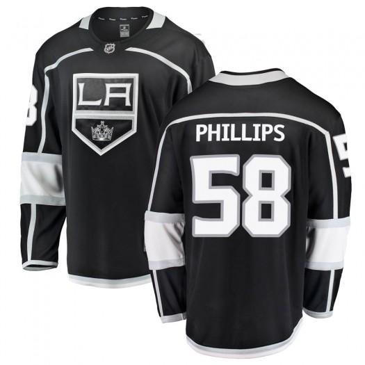 Markus Phillips Los Angeles Kings Youth Fanatics Branded Black Breakaway Home Jersey