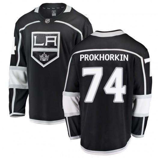 Nikolai Prokhorkin Los Angeles Kings Youth Fanatics Branded Black Breakaway Home Jersey