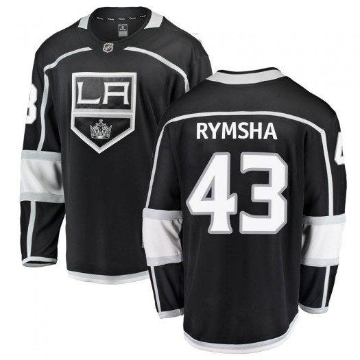 Drake Rymsha Los Angeles Kings Youth Fanatics Branded Black Breakaway Home Jersey