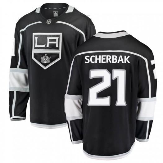 Nikita Scherbak Los Angeles Kings Youth Fanatics Branded Black Breakaway Home Jersey