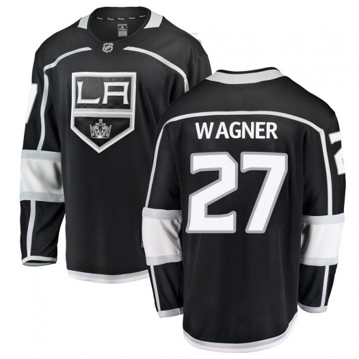 Austin Wagner Los Angeles Kings Youth Fanatics Branded Black Breakaway Home Jersey