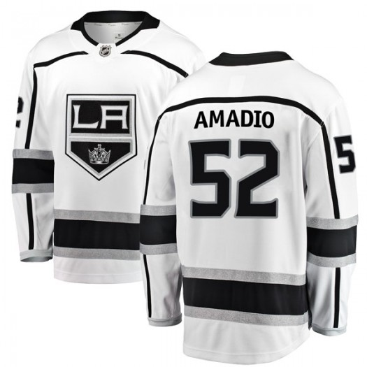 Michael Amadio Los Angeles Kings Youth Fanatics Branded White Breakaway Away Jersey