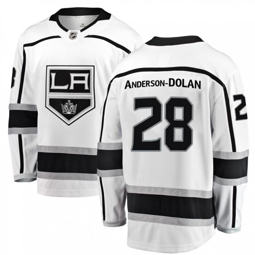 Jaret Anderson-Dolan Los Angeles Kings Youth Fanatics Branded White Breakaway Away Jersey