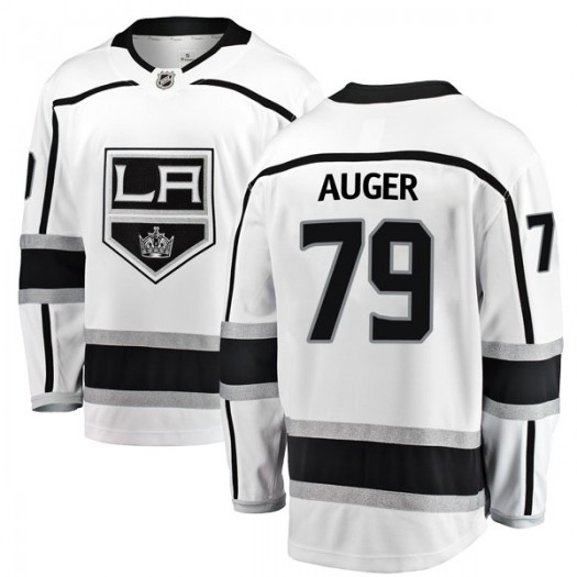 Justin Auger Los Angeles Kings Youth Fanatics Branded White Breakaway Away Jersey