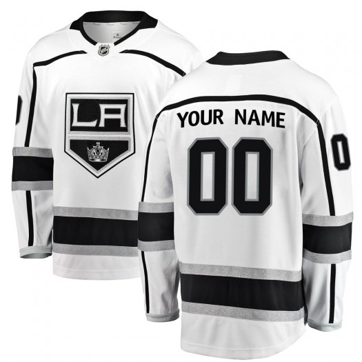 Youth Fanatics Branded Los Angeles Kings Customized Breakaway White Away Jersey