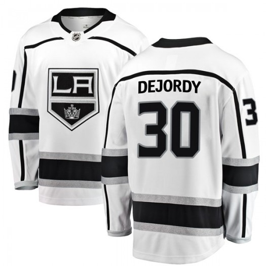 Denis Dejordy Los Angeles Kings Youth Fanatics Branded White Breakaway Away Jersey