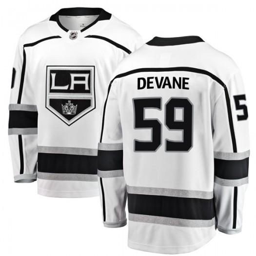 Jamie Devane Los Angeles Kings Youth Fanatics Branded White Breakaway Away Jersey