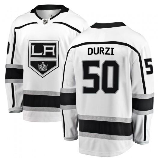 Sean Durzi Los Angeles Kings Youth Fanatics Branded White Breakaway Away Jersey
