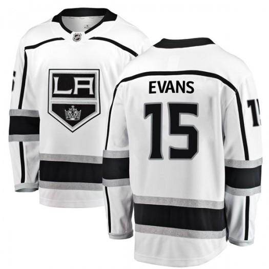 Daryl Evans Los Angeles Kings Youth Fanatics Branded White Breakaway Away Jersey