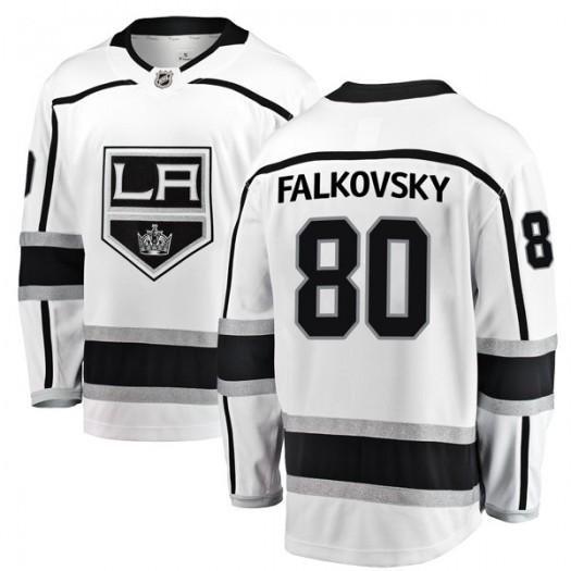 Stepan Falkovsky Los Angeles Kings Youth Fanatics Branded White Breakaway Away Jersey