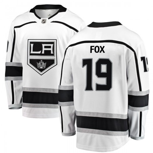 Jim Fox Los Angeles Kings Youth Fanatics Branded White Breakaway Away Jersey