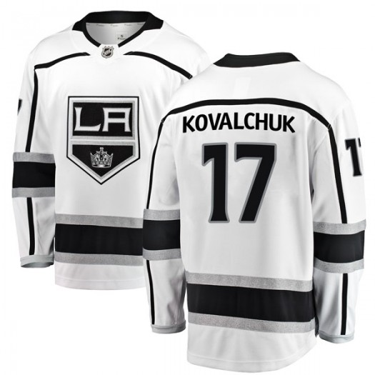 Ilya Kovalchuk Los Angeles Kings Youth Fanatics Branded White Breakaway Away Jersey