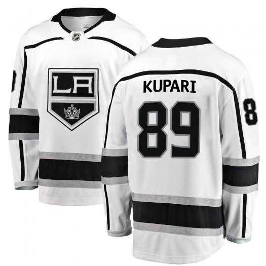 Rasmus Kupari Los Angeles Kings Youth Fanatics Branded White Breakaway Away Jersey