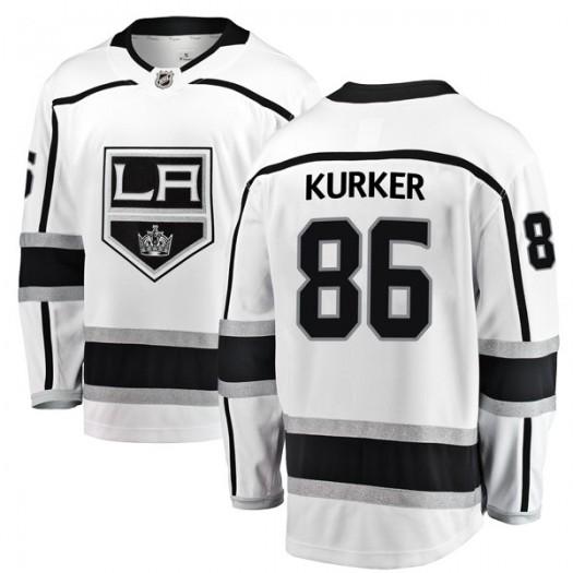 Sam Kurker Los Angeles Kings Youth Fanatics Branded White Breakaway Away Jersey