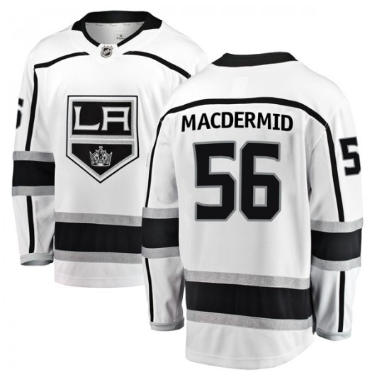 Kurtis MacDermid Los Angeles Kings Youth Fanatics Branded White Breakaway Away Jersey