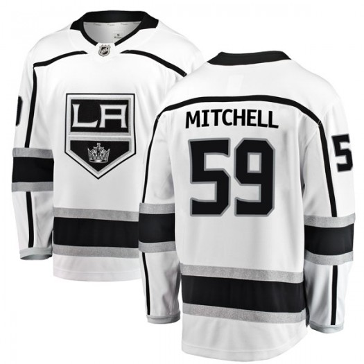 Zack Mitchell Los Angeles Kings Youth Fanatics Branded White Breakaway Away Jersey