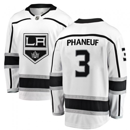 Dion Phaneuf Los Angeles Kings Youth Fanatics Branded White Breakaway Away Jersey