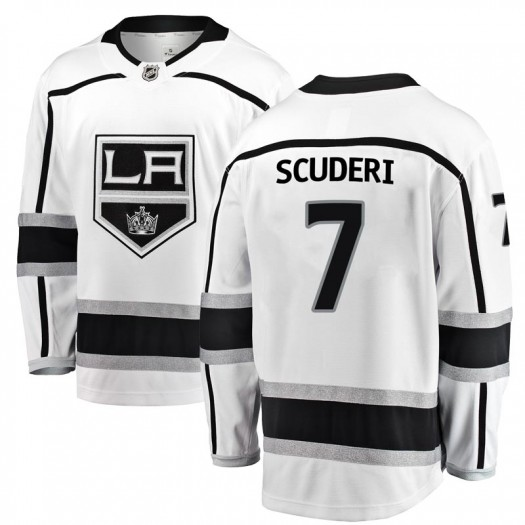 Rob Scuderi Los Angeles Kings Youth Fanatics Branded White Breakaway Away Jersey
