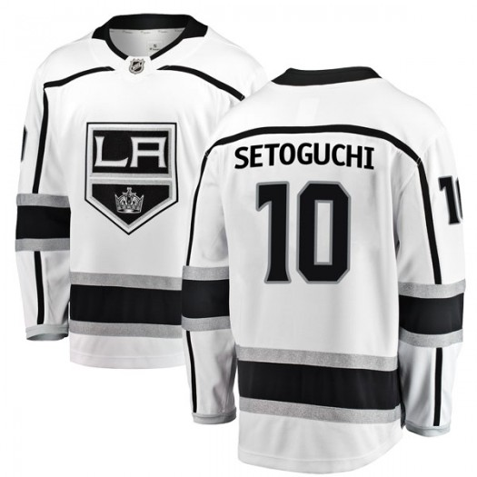 Devin Setoguchi Los Angeles Kings Youth Fanatics Branded White Breakaway Away Jersey