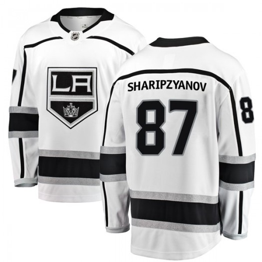 Damir Sharipzyanov Los Angeles Kings Youth Fanatics Branded White Breakaway Away Jersey