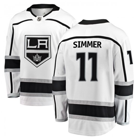 Charlie Simmer Los Angeles Kings Youth Fanatics Branded White Breakaway Away Jersey