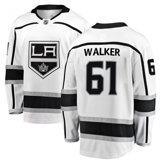Sean Walker Los Angeles Kings Youth Fanatics Branded White Breakaway Away Jersey