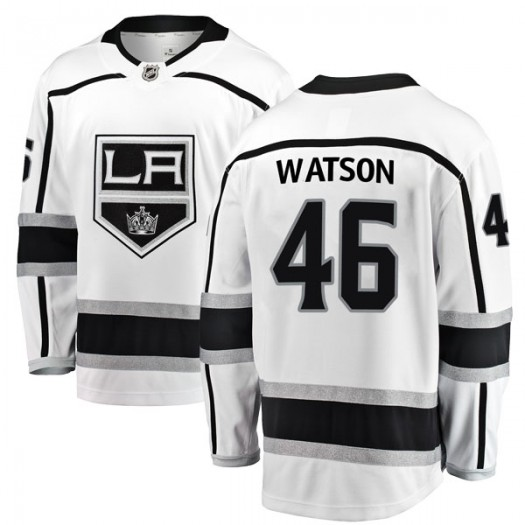 Spencer Watson Los Angeles Kings Youth Fanatics Branded White Breakaway Away Jersey