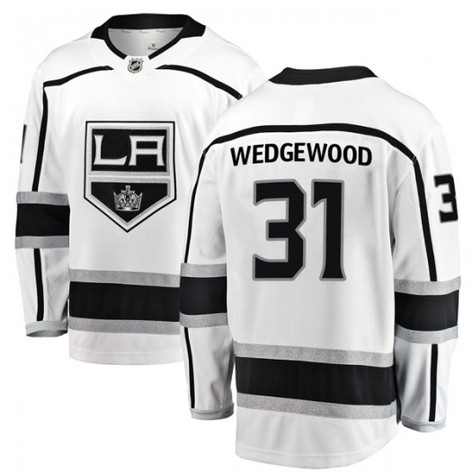 Scott Wedgewood Los Angeles Kings Youth Fanatics Branded White Breakaway Away Jersey