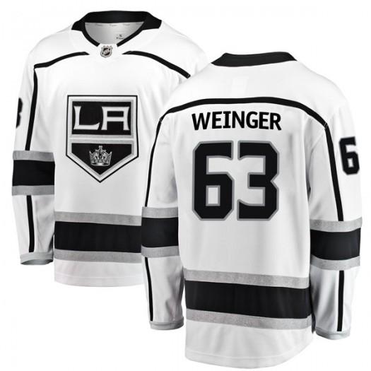 Evan Weinger Los Angeles Kings Youth Fanatics Branded White Breakaway Away Jersey