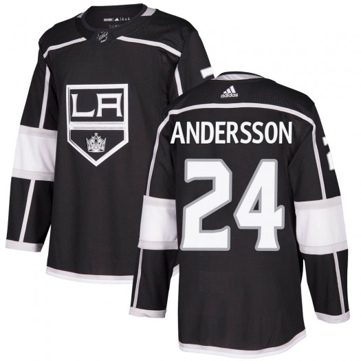 Lias Andersson Los Angeles Kings Youth Adidas Authentic Black Home Jersey