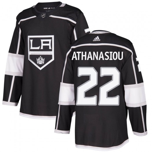 Andreas Athanasiou Los Angeles Kings Youth Adidas Authentic Black Home Jersey
