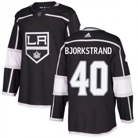 Patrick Bjorkstrand Los Angeles Kings Youth Adidas Authentic Black Home Jersey