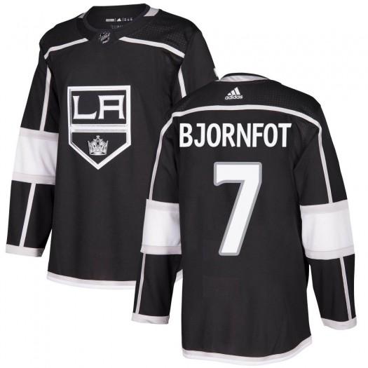 Tobias Bjornfot Los Angeles Kings Youth Adidas Authentic Black Home Jersey