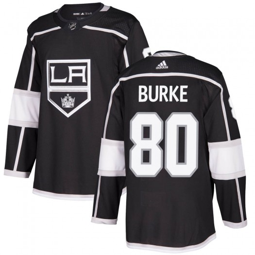Brayden Burke Los Angeles Kings Youth Adidas Authentic Black Home Jersey