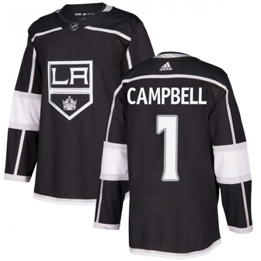 Jack Campbell Los Angeles Kings Youth Adidas Authentic Black Home Jersey