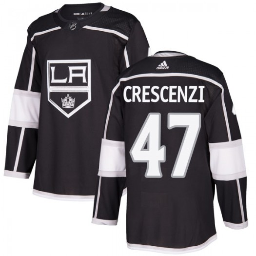 Andrew Crescenzi Los Angeles Kings Youth Adidas Authentic Black Home Jersey