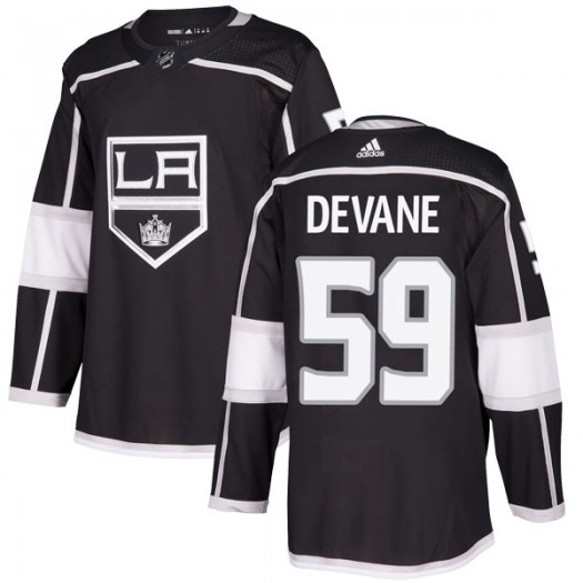 Jamie Devane Los Angeles Kings Youth Adidas Authentic Black Home Jersey