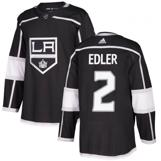 Alexander Edler Los Angeles Kings Youth Adidas Authentic Black Home Jersey